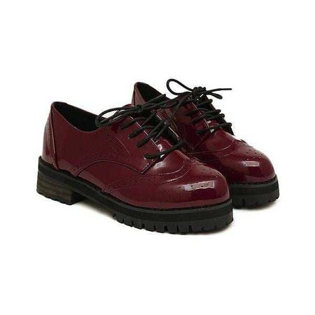 Burgundy Shoes - @byepolyvore PNG Collection