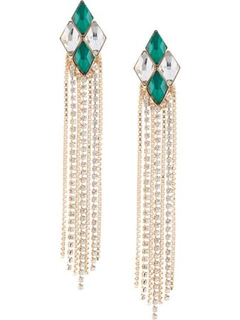 Anton Heunis Crystal Embellished Earrings HRQ319 Green | Farfetch