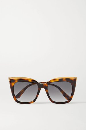 Tortoiseshell Cat-eye gold-tone and tortoiseshell acetate sunglasses   Cartier Eyewear   NET-A-PORTER