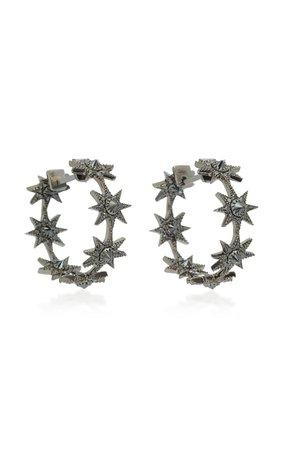 Baby Star 18K Gold Black Diamond Earrings by Colette Jewelry | Moda Operandi