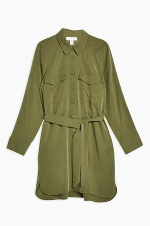 Utility Mini Shirt Dress - Dresses - Clothing - Topshop