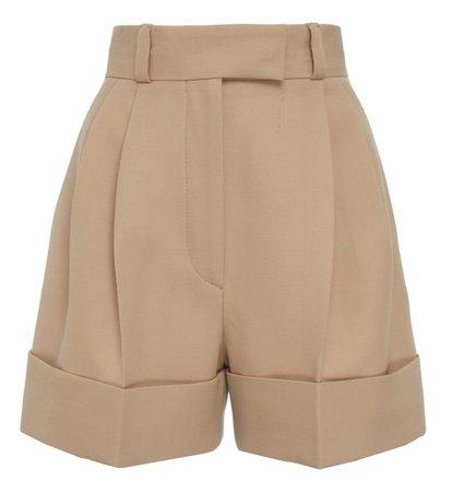 khaki high waisted shorts