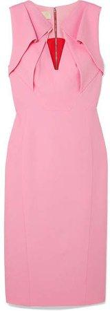 Folded Crepe Dress - Pink