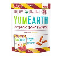 YumEarth Organic Sour Twists (5 Snack Packs) - Walmart.com