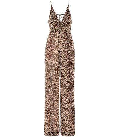 Leopard-Print Crêpe Jumpsuit | Jonathan Simkhai - Mytheresa