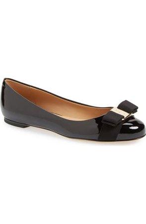 Salvatore Ferragamo Varina Leather Flat (Women) | Nordstrom