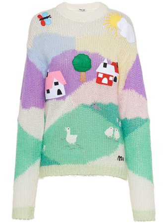 Miu Miu Embellished Mohair Sweater - Farfetch