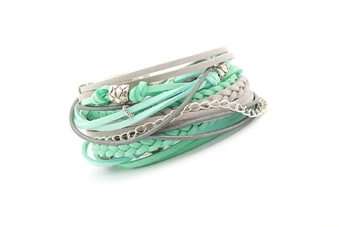 mint green wrap bracelet