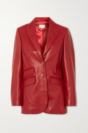 Red Leather jacket | Gucci | NET-A-PORTER