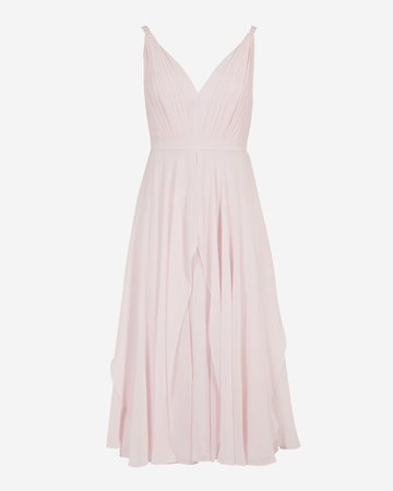 V neck georgette midi dress - Pale Pink | Dresses | Ted Baker UK