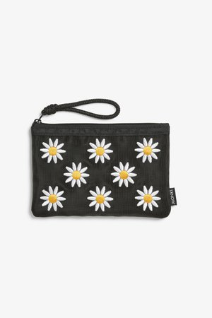 Mesh zip purse - Embroidered daisies - Bags, wallets & belts - Monki WW