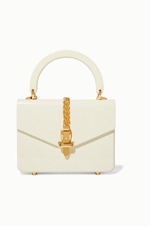 Gucci | Sylvie 1969 mini chain-embellished Plexiglas tote | NET-A-PORTER.COM