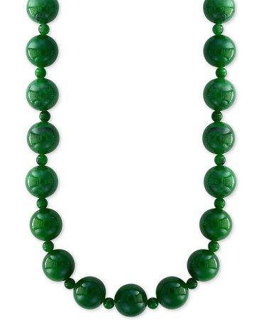 "EFFY® Jade Bead 20"" Statement Necklace"