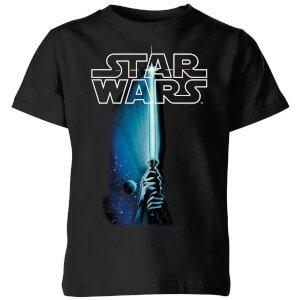 Star Wars Lightsaber Kids' T-Shirt - Black Clothing | Zavvi