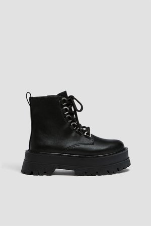 Track sole ankle boots - pull&bear