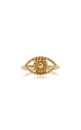 18K Yellow Gold Eye Ring by Gaya | Moda Operandi