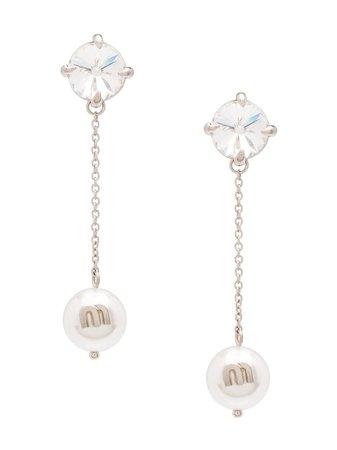 Miu Miu Solitaire Jewels Earrings Ss20 | Farfetch.com