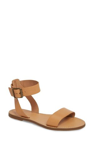 Madewell | The Boardwalk Leather Ankle Strap Sandal | Nordstrom Rack