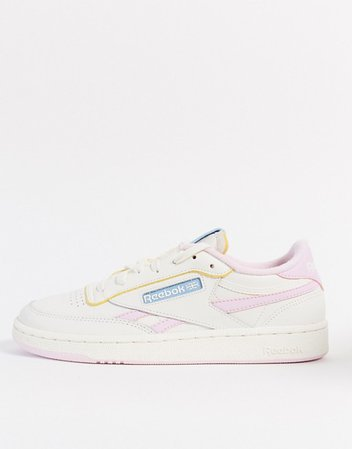 Reebok Club C sneaker in white and pink | ASOS