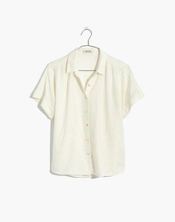 Linen-Blend Hilltop Shirt white
