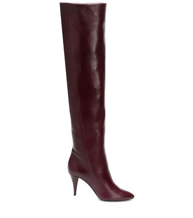 Saint Laurent, Kiki Over-The-Knee Leather Boots