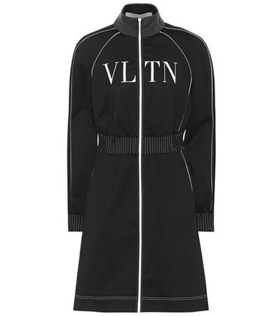 VLTN technical jersey dress