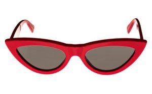 Celine CL40019I Women's Cat-Eye Sunglasses - Red/Green