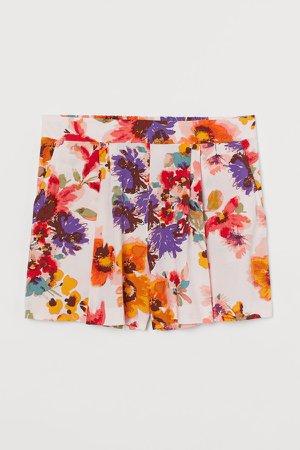 H&M+ Shorts High Waist - Pink