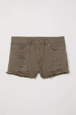 Denim Shorts Skinny Regular - Green