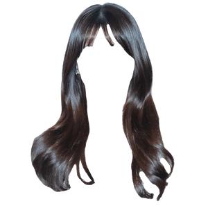 black hair png bang