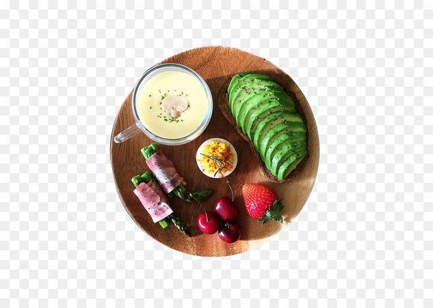 Vegetarian cuisine Bacon roll Breakfast Dish - Avocado Breakfast