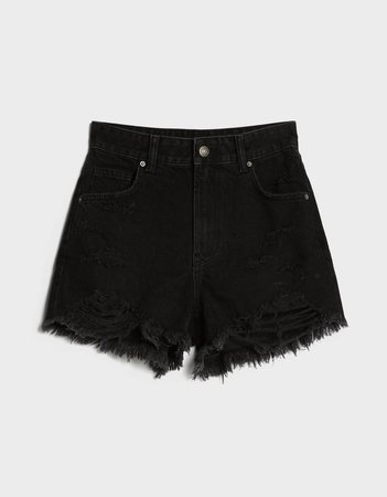 Denim shorts with rips - Best Sellers - Bershka United States