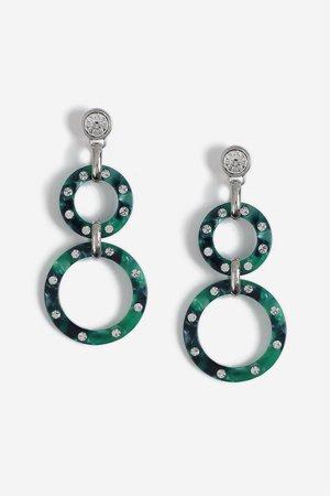 Circle Link Drop Earrings - Jewellery - Bags & Accessories - Topshop