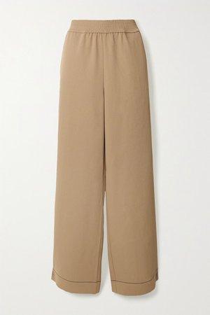 Pique Straight-leg Pants - Light brown
