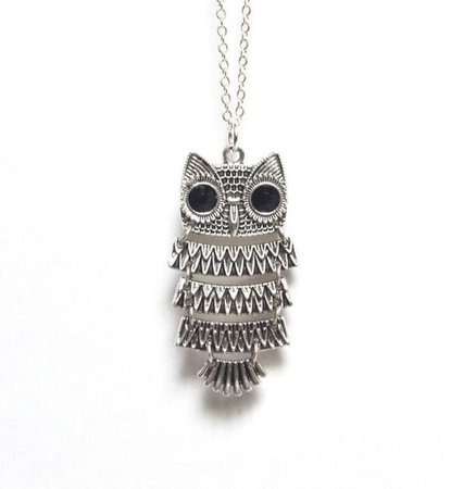 Owl Necklace, Owl Jewelry, Barn Owl Necklace, Moving Owl Necklace, Bird Necklace, Nature Necklace, Spring Jewelry, Canadian Jewellery