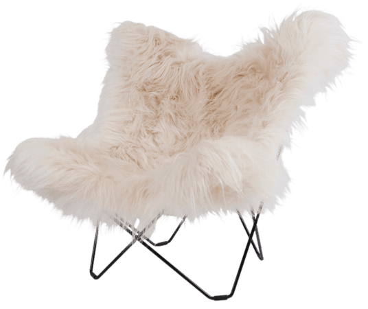 SHEEPSKIN BUTTERFLY LOUNGE CHAIR — Luke