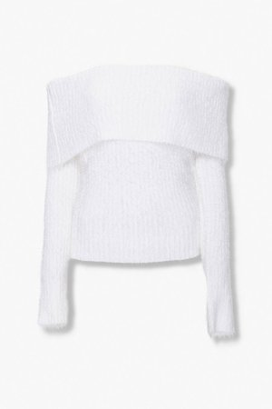 Foldover Off-the-Shoulder Sweater