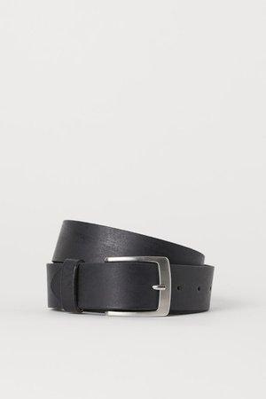 Leather belt - Black - Men | H&M GB