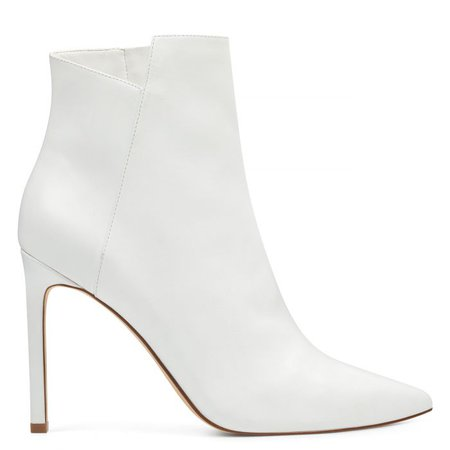 Tomorrow Pointy Toe Booties - White Leather | Women Shoes & Handbags for Women