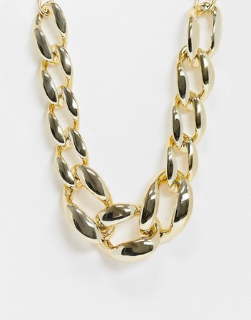 DesignB London necklace in chunky gold chain | ASOS