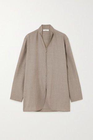 Beige Zana wool shirt | The Row | NET-A-PORTER