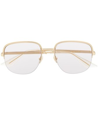 Gucci Eyewear Oval Frame Sunglasses - Farfetch