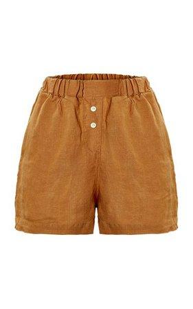 The Gabrielle Linen Shorts By The Sept Label | Moda Operandi