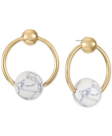 Alfani Gold-Tone Stone Doorknocker Drop Earrings, Created for Macy's & Reviews - Earrings - Jewelry & Watches - Macy's