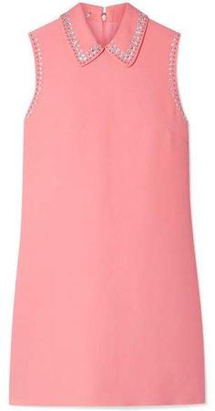 Embellished Cady Mini Dress - Pink