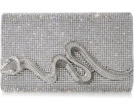 Judith Leiber Crystal snake clutch