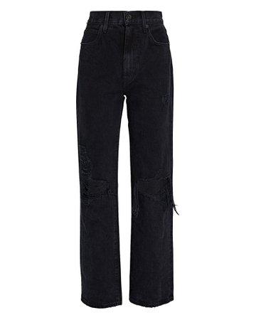 SLVRLAKE London High-Rise Straight-Leg Jeans   INTERMIX®