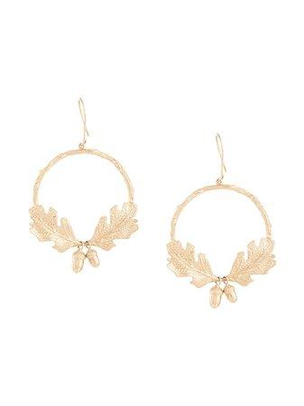 Karen Walker acorn & leaf wreath earrings - FARFETCH