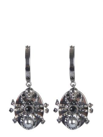 Alexander McQueen Swarovski-studded Brass Earrings
