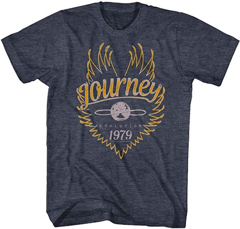 Journey Rock Band Music Group Evolution 1979 Black Heather Adult T-Shirt Tee | Amazon.com